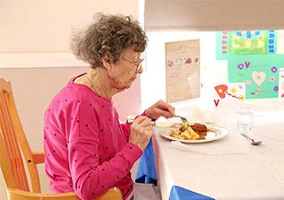 Freshly prepared meals at St Joseph's Nursing Home